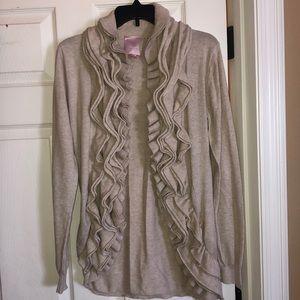 Romeo & Juliet sweater ruffle cardigan